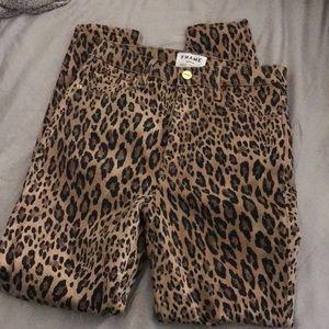 Frame Ali Leopard Jeans 28